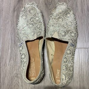 Sparkly Lace Toms